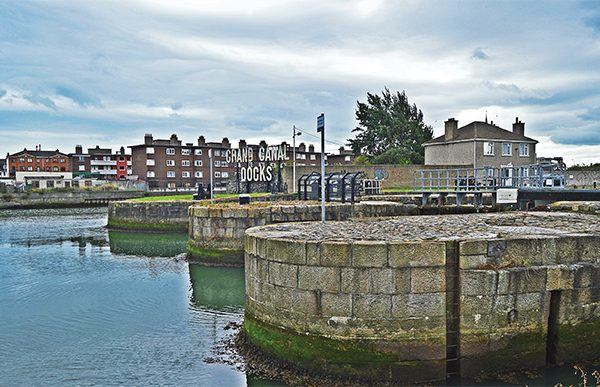 Pictured: The locks at Grand Canal Docks.