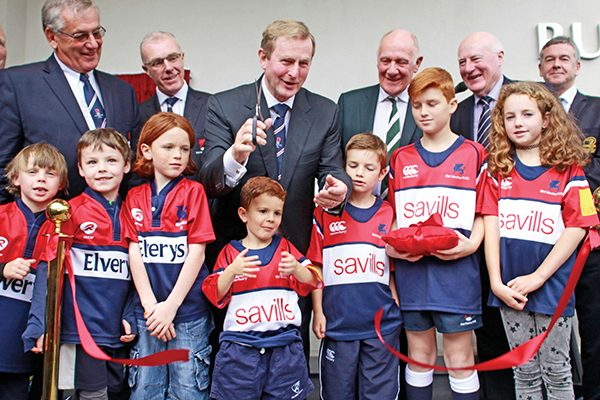 Pictured: An Taoiseach with both youngest and wisest members of the club!