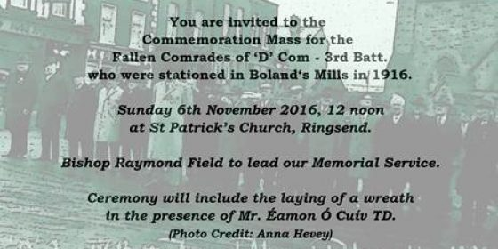 Commemoration Mass for Boland's Mill casualties