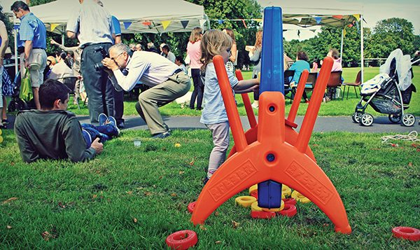 Pictured: Family fun at Herbert Park.