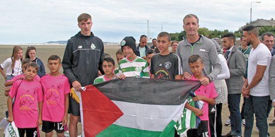 Gaza soccer kids visit Sandymount
