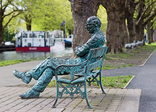 Pictured Above: Patrick Kavanagh on his bench by Peierls.
