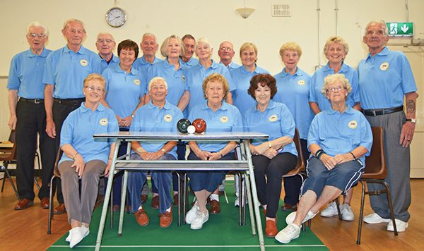 Pictured: The Active Retirement Association with their new jerseys for the bowling team.