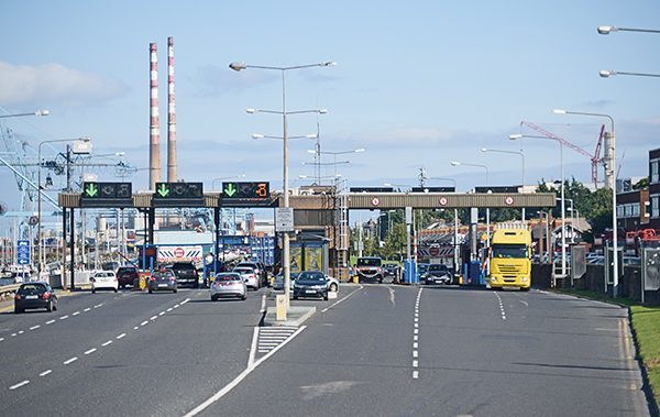 Above: The Toll Plaza.