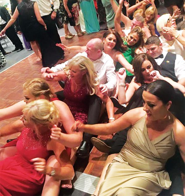Pictured Above: Rowers do it sitting down. Dance, that is! Photo by Eimear McCormack.