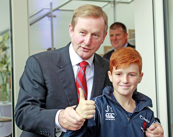 Pictured: An Taoiseach with Jack Younge. Photos by Deryck Vincent.