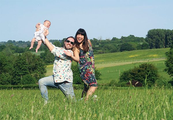 Pictured: Paul Mahon with wife Zoë and daughter Zelda. Photo courtesy of Paul Mahon.