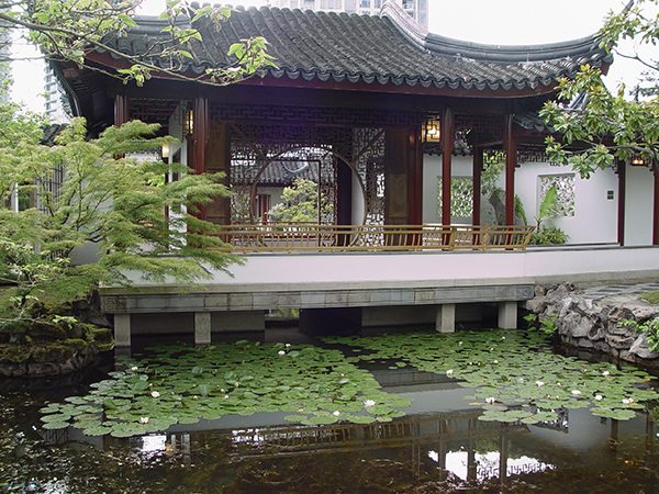 Pictured: A representation of how the Chinese garden may look.
