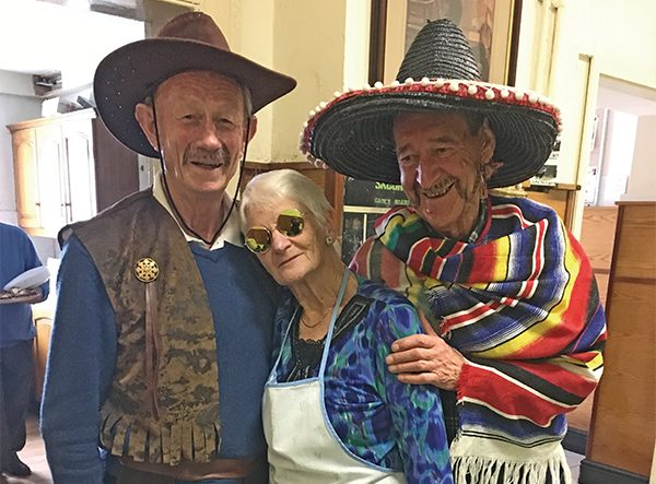 Active retirement Halloween Party. Left to right: Derek Murphy, Kay Flood and Pat Micheau. Picture courtesy of Barbara Doyle.