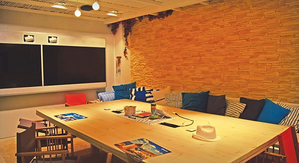 Pictured: Airbnb meeting rooms.
