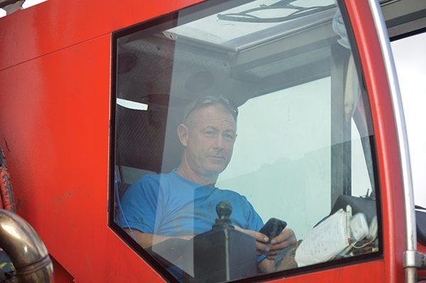Pictured: Arklow Crane Driver Eddie Murphy.