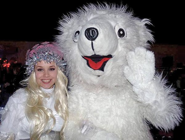 Above: Cuddles and the Snow Queen. Picture courtesy of Donnybrook Tidy Towns.