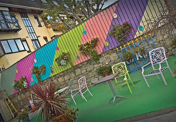 There's a new mural at the Fair Play Cafe! Photo: Kevin O'Gorman.