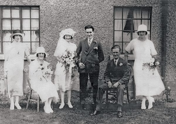 Pictured: Charlie and Mollie Kenny on the day of their wedding outside the family home at 131 Ringsend Park.