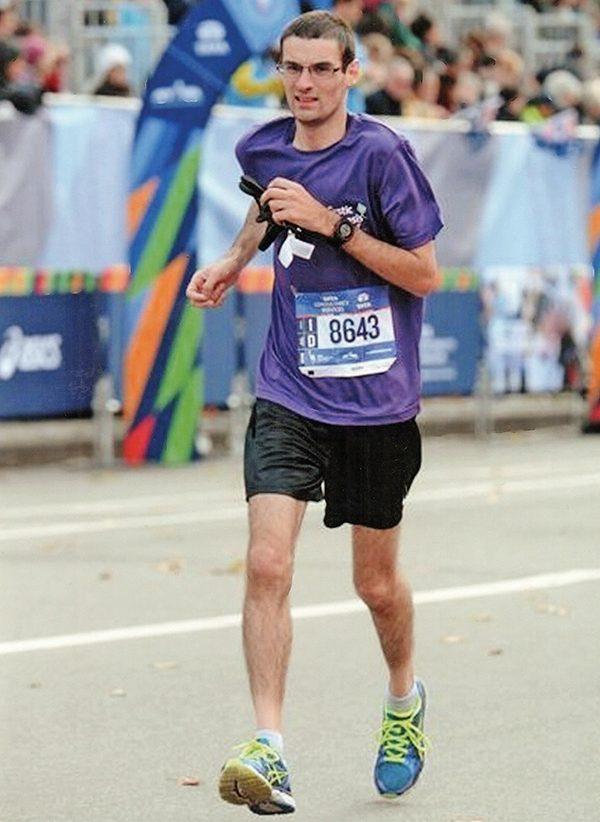 Pictured: Marathon man Joe McDermott.