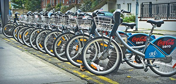 Pictured: Dublin Bikes rack.
