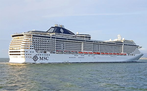 Pictured: The MSC Splendida cruise liner. Photo: Robbie Cox.