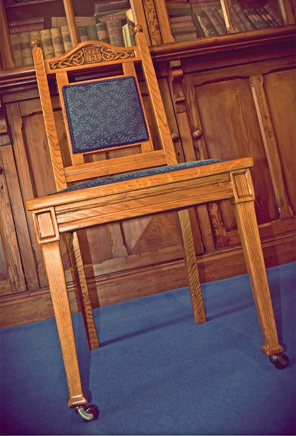 Pictured: Art Deco furniture details on chair.