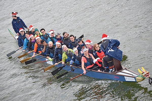 Pictured: Rowing crew on the anna.