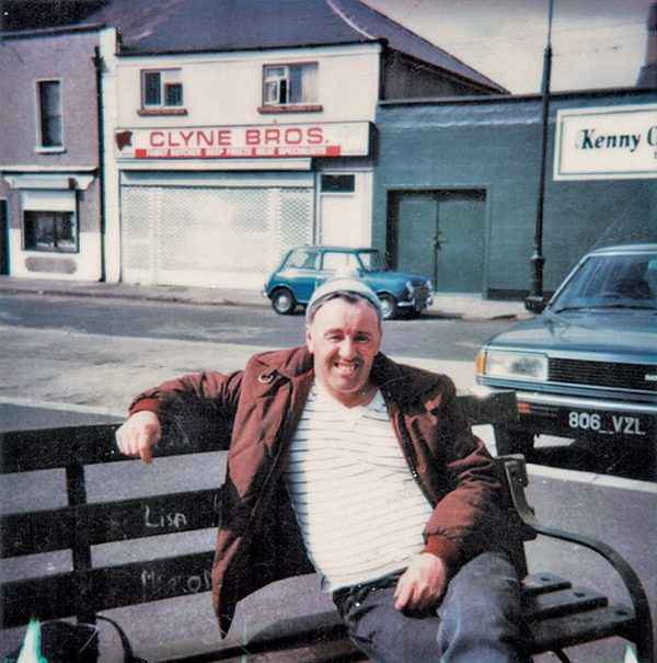 Pictured: Heroic boatman Christopher Lawless, known locally as 'The Green Vest' or 'The Vest', was photographed  in front of Fitzwilliam Street circa 1980.  Photo courtesy of Elizabeth Kelch.