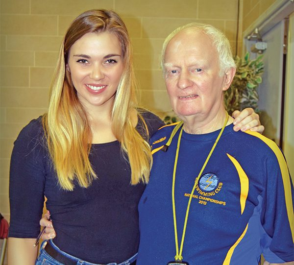 Pictured Above: 2008 Olympian Aisling Cooney with Bill McCarthy, Head Coach at ESB Swimming Club.