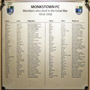 Monkstown RC plaque honours war dead