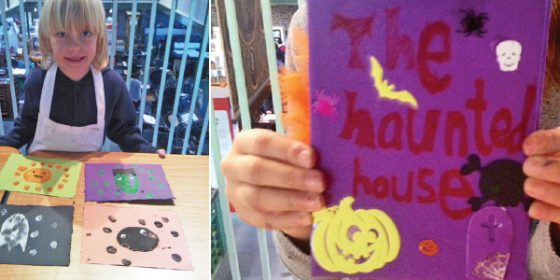 Children's craft workshop at the National Print Museum