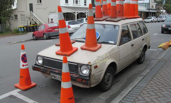 Traffic Cone Epidemic Hits Dublin 4