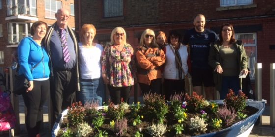 The new tidy town committee for Raytown pays  floral tribute to its boating heritage