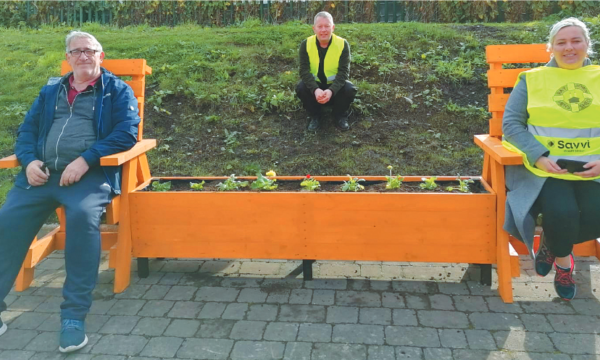 New Social-Distance Benches by  Raytown Men's Shed